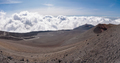 Panoramic view of the Mount Etna craters