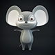 Cartoon Mouse Gray - 3DOcean Item for Sale