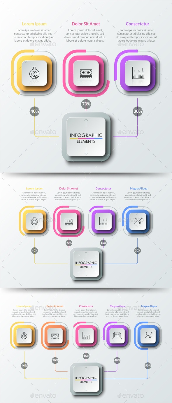 Modern Infographic Choice Templates (3 Items)