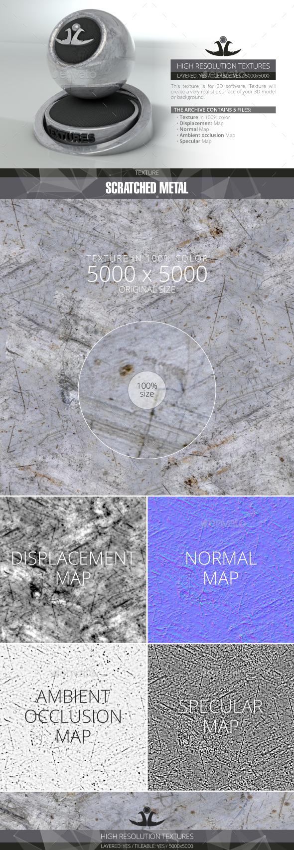 Scratched Metal - 3DOcean Item for Sale