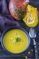 Bowl of pumpkin cream soup - PhotoDune Item for Sale