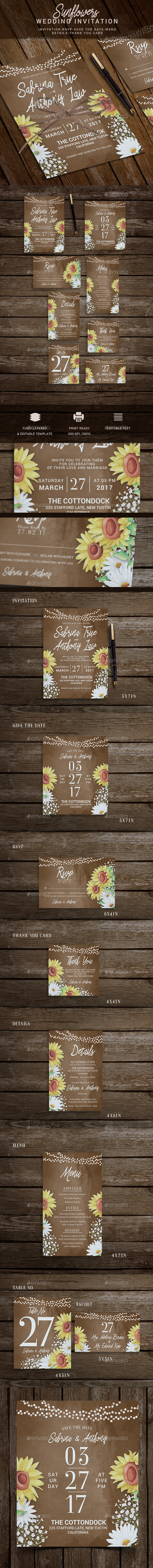 Rustic Wedding Invitation - Invitations Cards & Invites