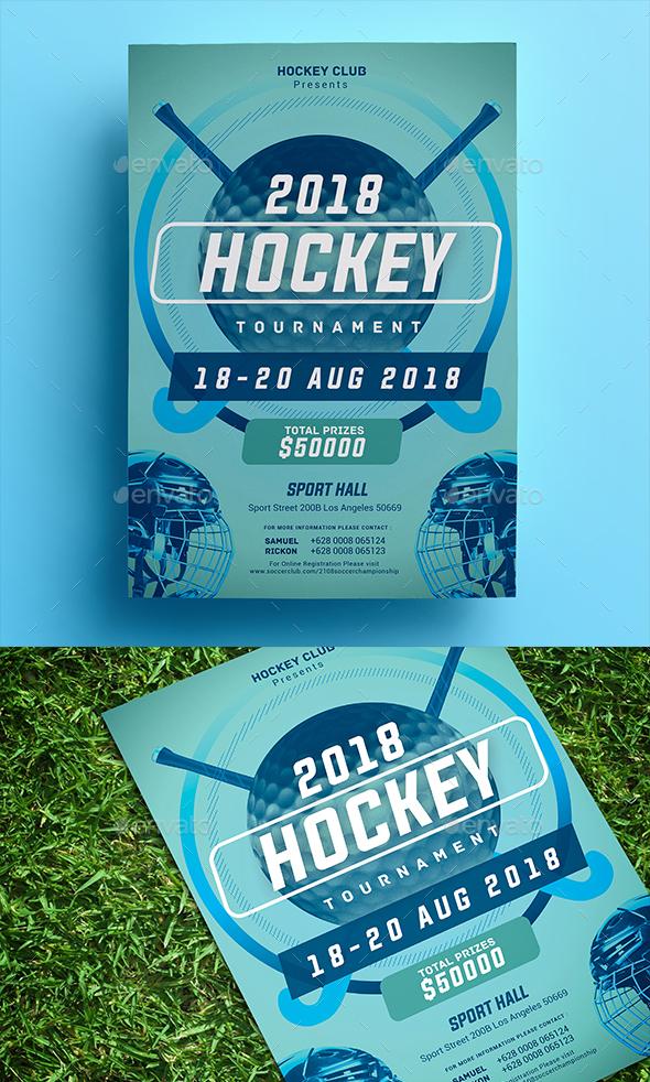 GraphicRiver Hockey Tournament Flyer 20699829