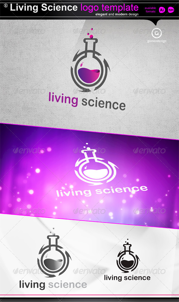 Living Science - Objects Logo Templates