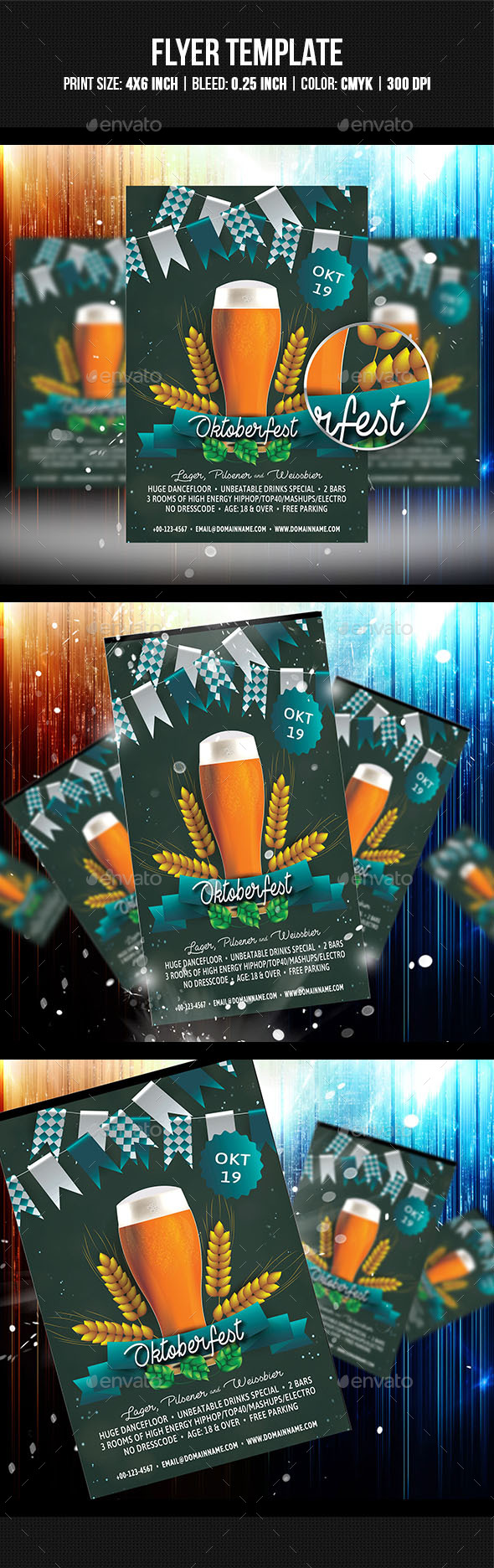 Oktoberfest Flyer Template - Clubs & Parties Events