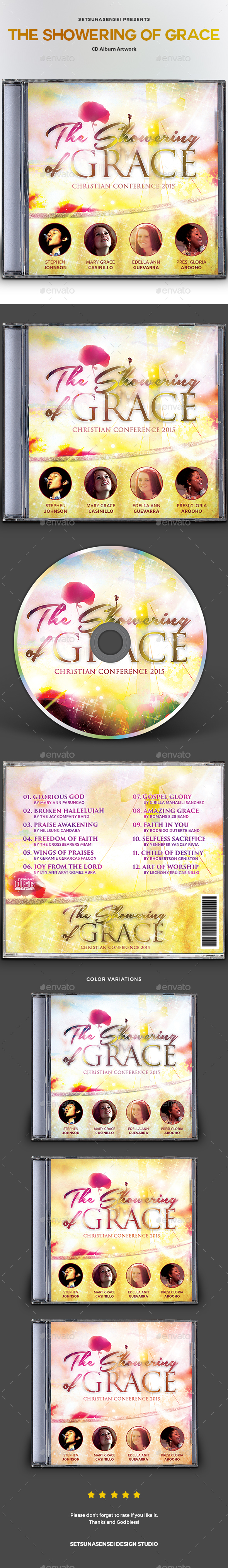 The Showering of Grace CD Album Artwork - CD & DVD Artwork Print Templates