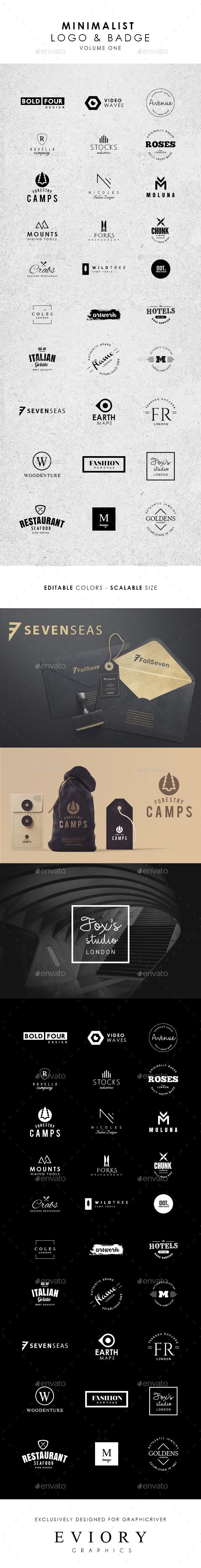 GraphicRiver 30 Minimalist Logo and Badge 20700024