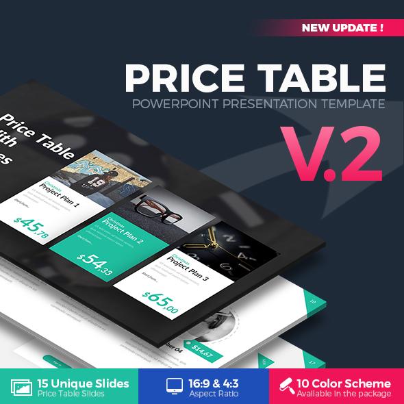 Price Table PowerPoint Template By RRgraph GraphicRiver - Unique product launch presentation ppt scheme