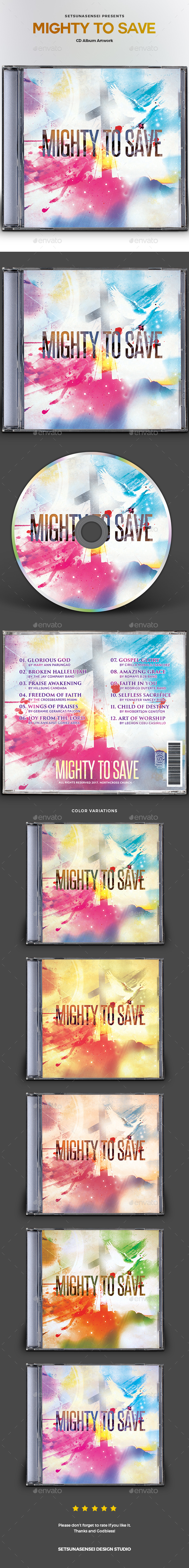 Mighty to Save CD Album Artwork - CD & DVD Artwork Print Templates
