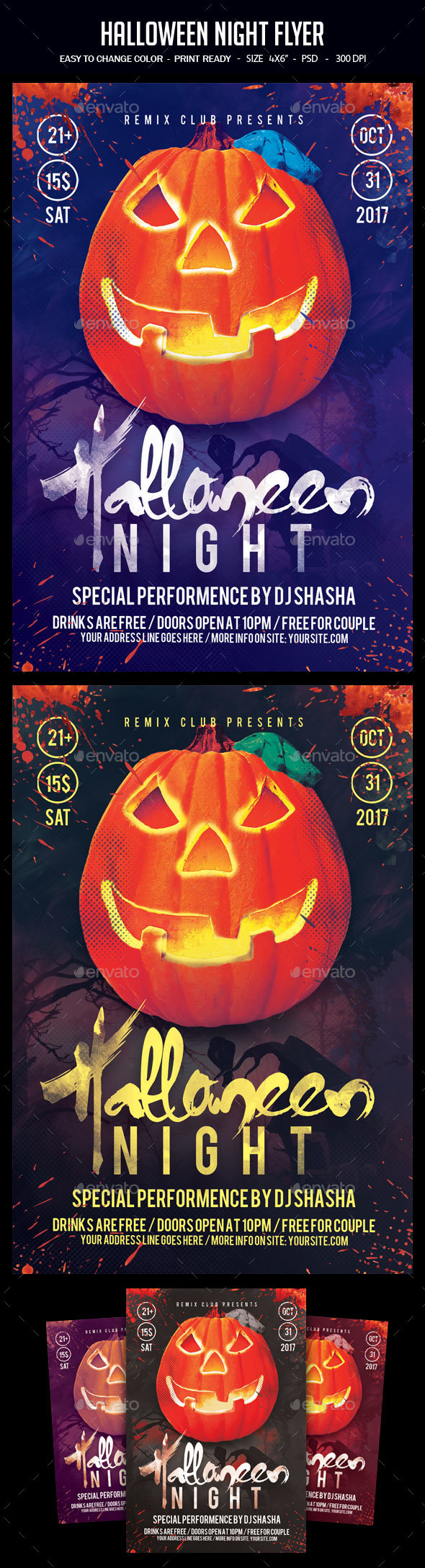 Halloween Night Flyer - Clubs & Parties Events