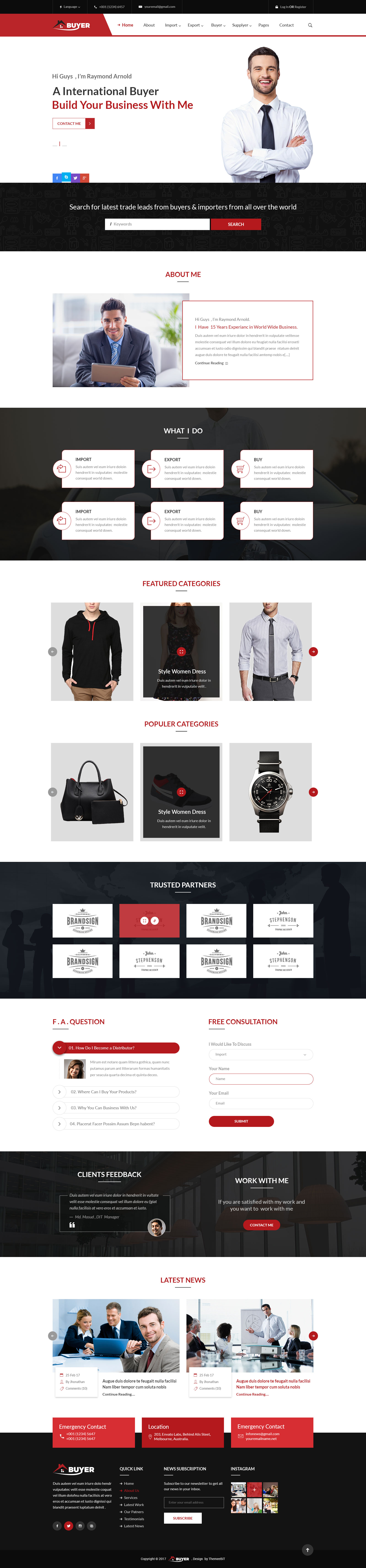 Buyer - Export/Import Business PSD Template