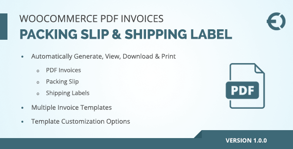 Invoice Word Document Pdf Woocommerce Pdf Invoice Packing Slip  Shipping Label By Extendons How To Create An Invoice On Paypal Pdf with Receipts For Insurance Claims Pdf Woocommerce Pdf Invoice Packing Slip  Shipping Label  Codecanyon Item  For Sale Job Receipt Template Word