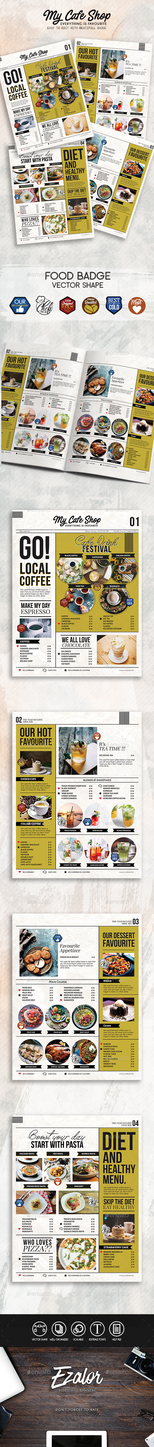 GraphicRiver My Cafe Menu 20700267