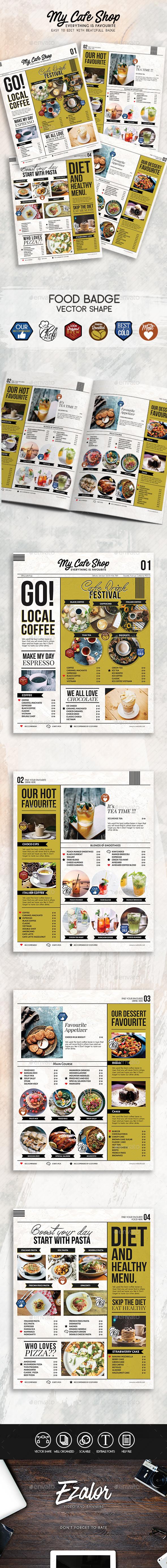 My Cafe Menu - Food Menus Print Templates