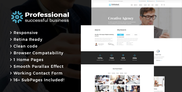Professional -  Creative Agency & Business HTML Template