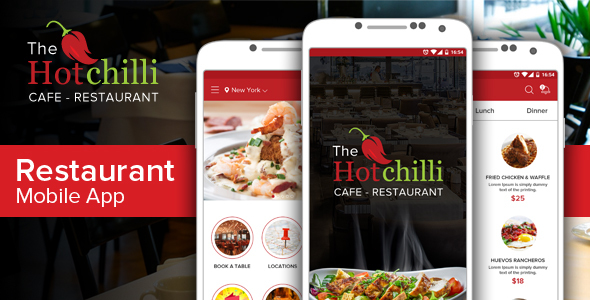 Hot Chilli App - Food Retail