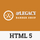 Legacy - Barber Shop HTML5 Template - ThemeForest Item for Sale