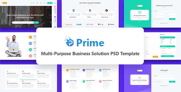 Prime - Multi-Purpose Business Solution PSD Template