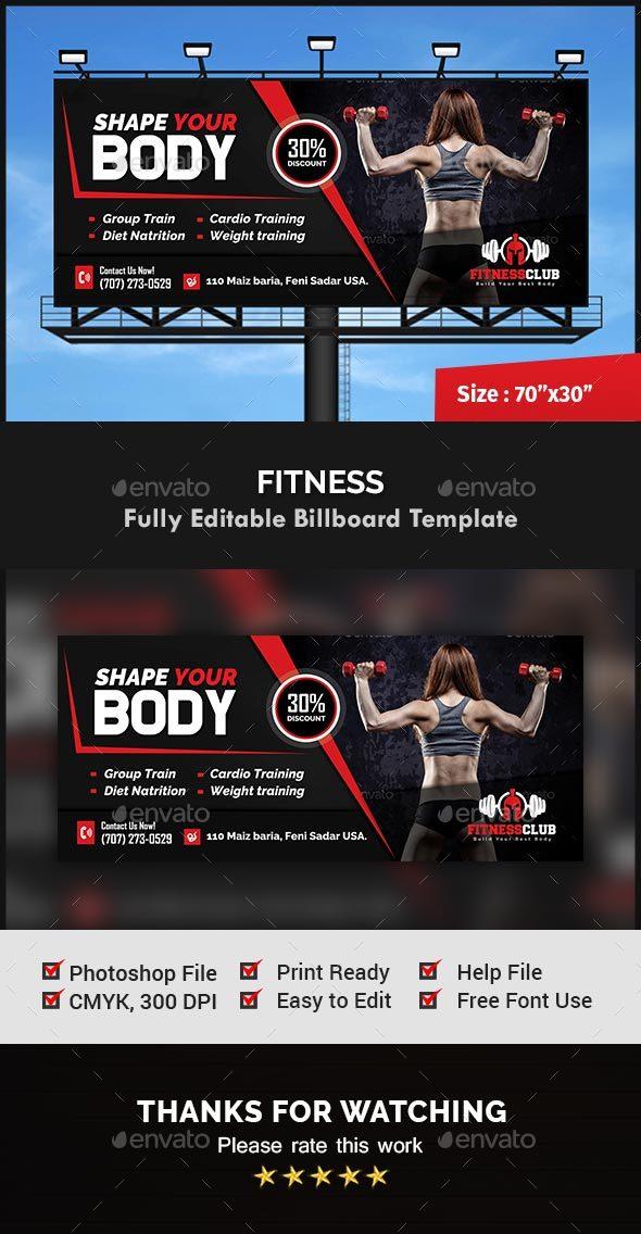 GraphicRiver Fitness Billboard Template 20700767