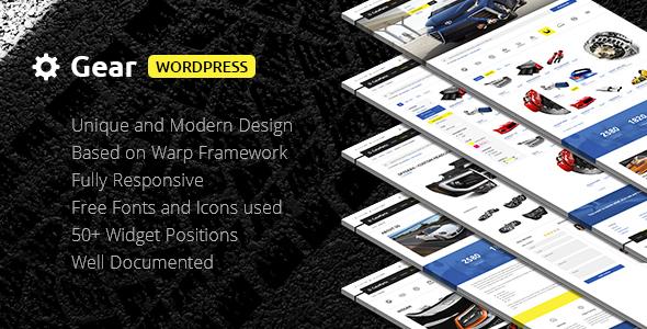 Gear — Automotive, Cars, Vehicle, Boat Dealership, Classifieds WordPress Theme
