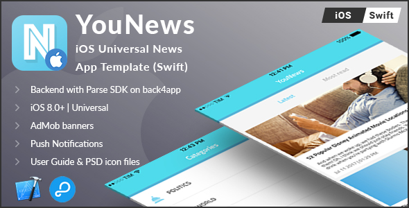 YouNews | iOS Universal News App Template (Swift) - CodeCanyon Item for Sale