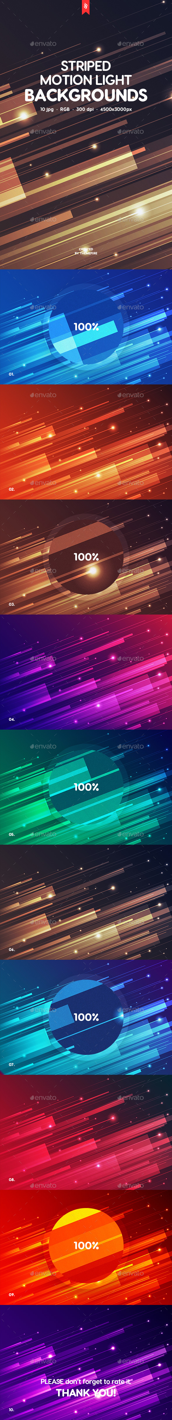 Striped Motion Light Backgrounds - Abstract Backgrounds