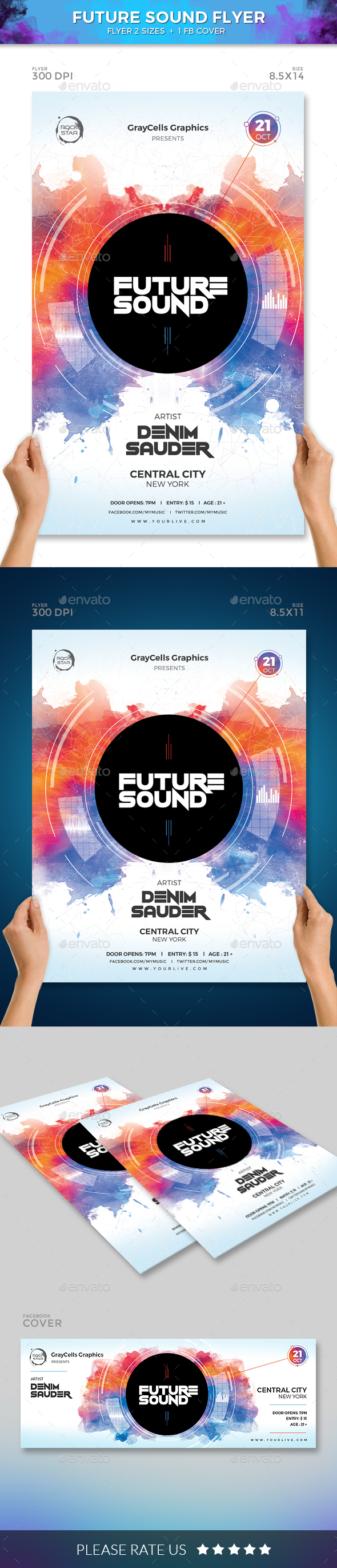 GraphicRiver FUTURE SOUND FLYER 20701083