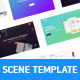 4 Scence Templates - UI Kit - GraphicRiver Item for Sale