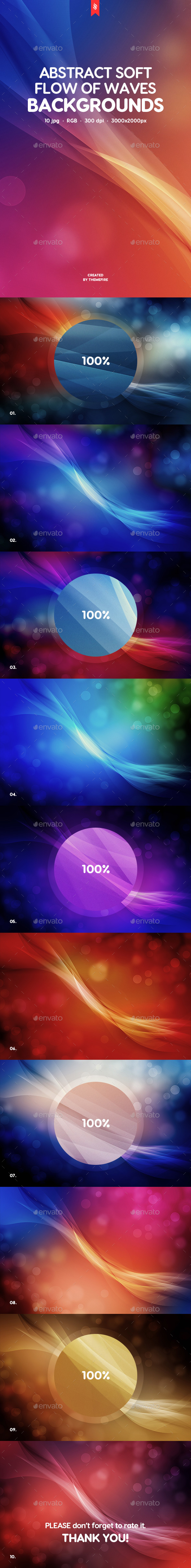 Soft Flow of Waves Backgrounds - Abstract Backgrounds