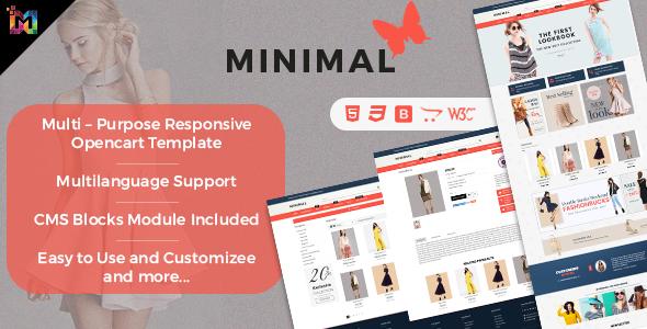 ThemeForest Responsive OpenCart Theme Template Minimal Fashion Store 20580790