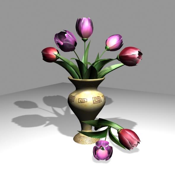 Tulips bouquet - 3DOcean Item for Sale