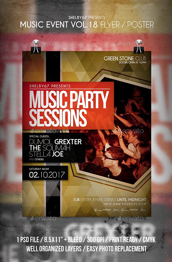 Music Event Flyer / Poster Vol 18 - Events Flyers