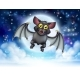Cartoon Bat and Full Moon Halloween Scene