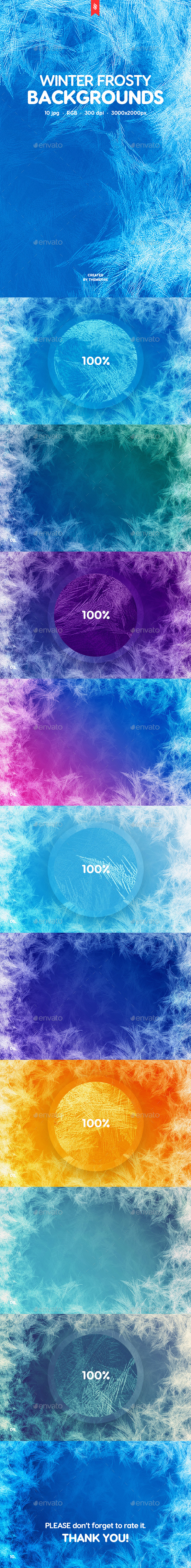Winter Frosty Backgrounds - Backgrounds Graphics