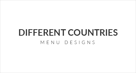 Different Countries Menu Designs
