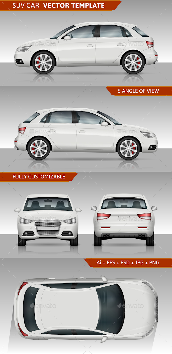 SUV Car Vector Template - Man-made Objects Objects