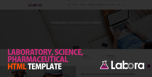 Labora - Business, Laboratory & Pharmaceutical HTML Template - Business Corporate