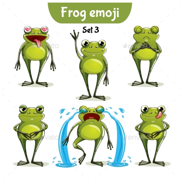 GraphicRiver Vector Set of Frog Characters Set 3 20701722