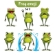 Vector Set of Frog Characters. Set 3