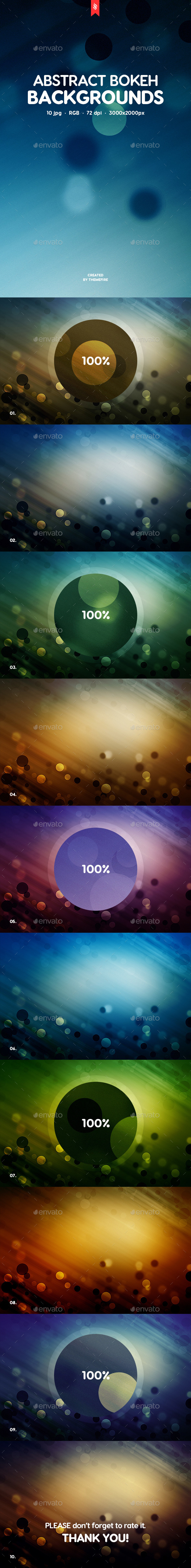 10 Abstract Bokeh Backgrounds - Abstract Backgrounds