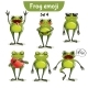 Vector Set of Frog Characters. Set 4