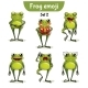 Vector Set of Frog Characters. Set 2
