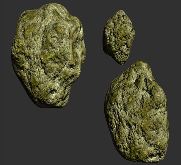 3D Low Poly Rocks - 3DOcean Item for Sale
