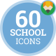 Icons Pack School Education Teacher Flat Animated Icons - VideoHive Item for Sale