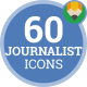 Interview News Journalist Media Animation - Flat Icons and Elements