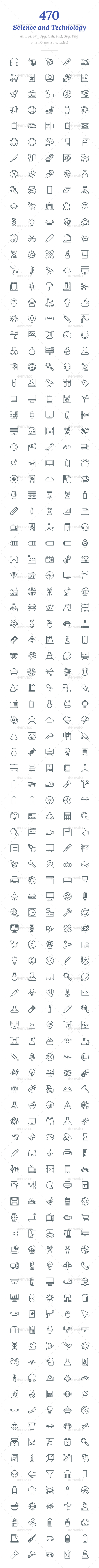 470 Science and Technology Line Icon - Icons