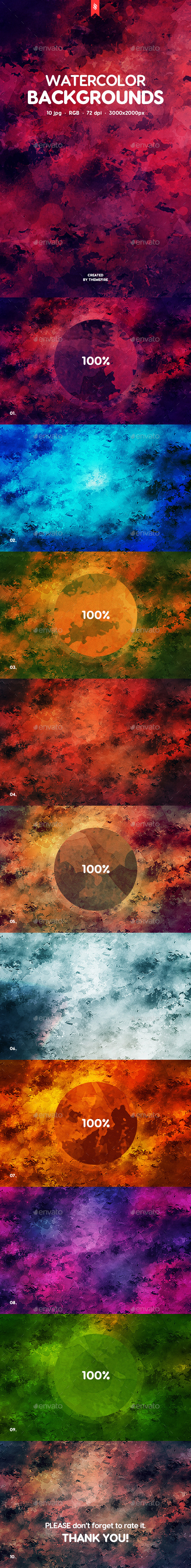 Watercolor Backgrounds - Patterns Backgrounds