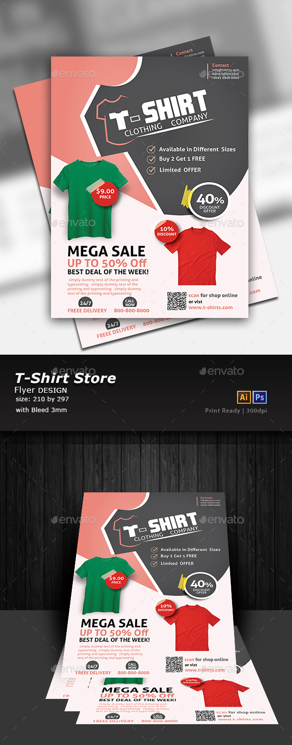 GraphicRiver T-Shirt Store Flyer 20692588