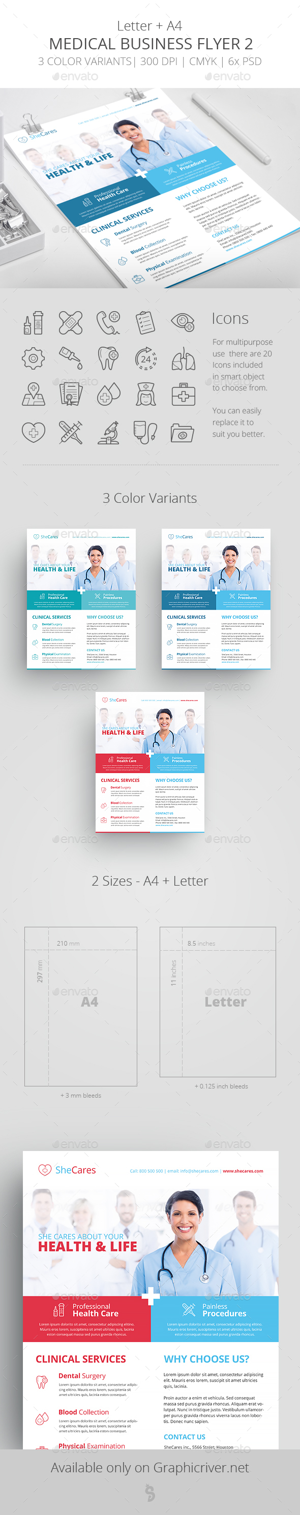 GraphicRiver Medical Business Flyer Template 2 20702131