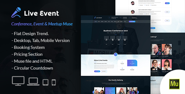 Download Live Event - Conference and Meetup Muse Template            nulled nulled version